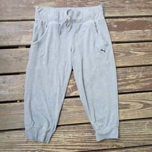 Sexy and Comfy Gray Puma Joggers Size Medium